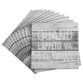 Set of 20 Tout Va Table Napkins