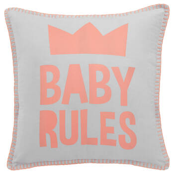 "Baby Rules Decorative Pillow 16"" X 16"""