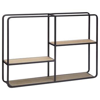 Wood and Metal Wall Shelf