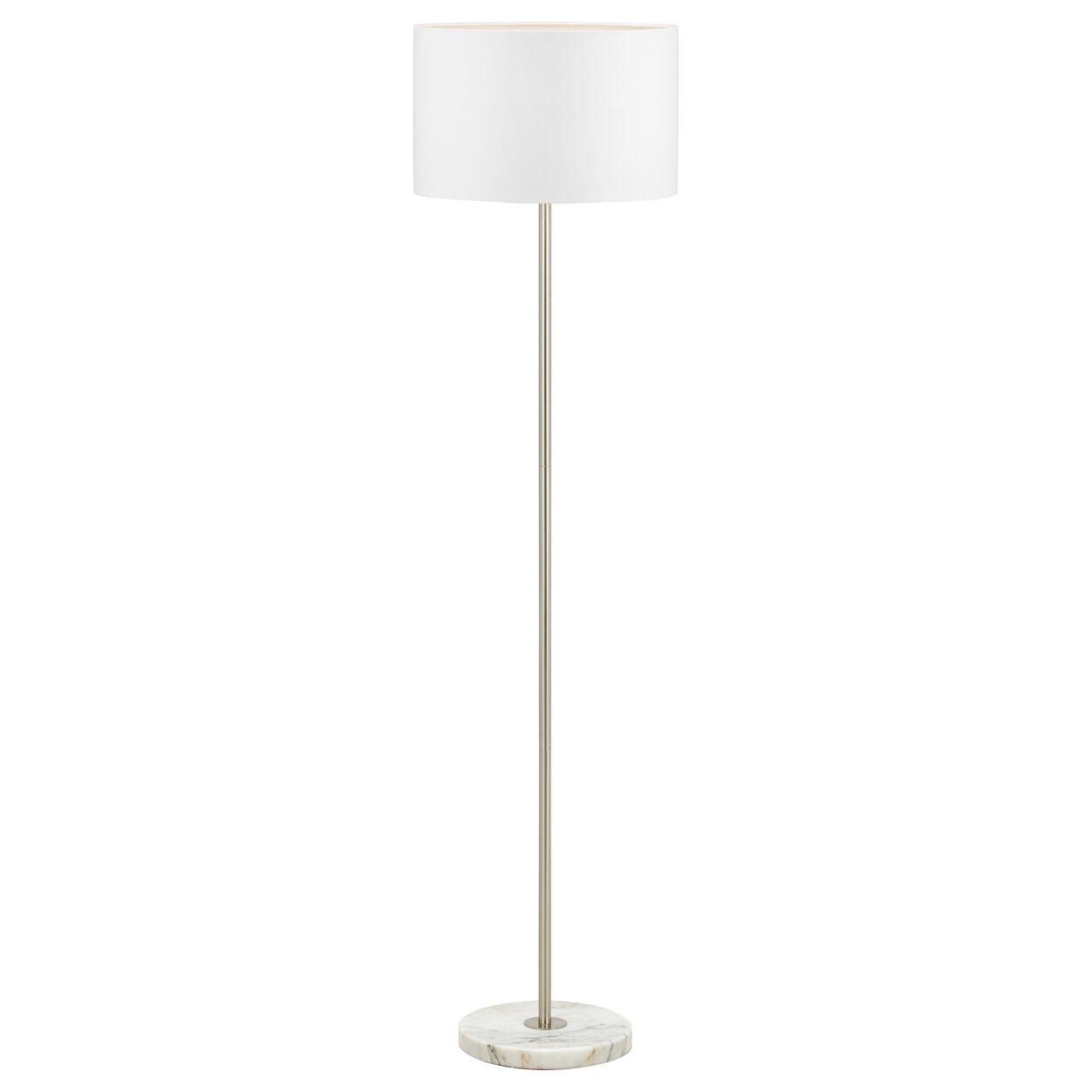 Marble and Metal Floor Lamp