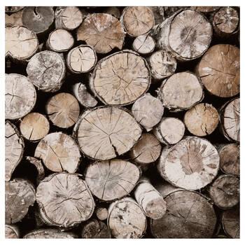 Tableau imprimé bûches de bois