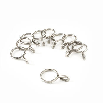 Set of 10 Metal Grommet Rings