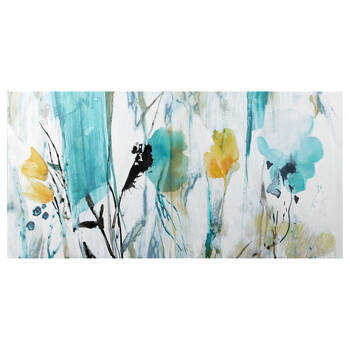Gel Embellished Floral Canvas