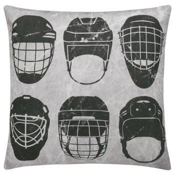 """Coussin décoratif casque de Hockey 19"""" x 19"""""""