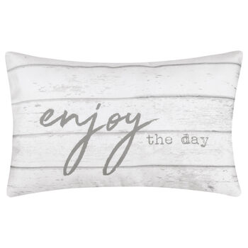 "Enjoy Water-Repellent Decorative Lumbar Pillow 13"" X 20"""