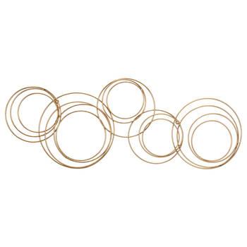 Art mural cercles en métal doré