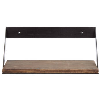 Medium Wood and Metal Shelf