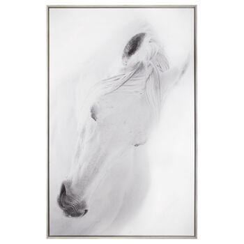 Oversized Printed Horse Framed Art