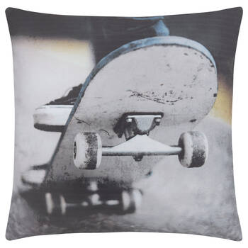 "Skateboard Decorative Pillow 18"" X 18"""