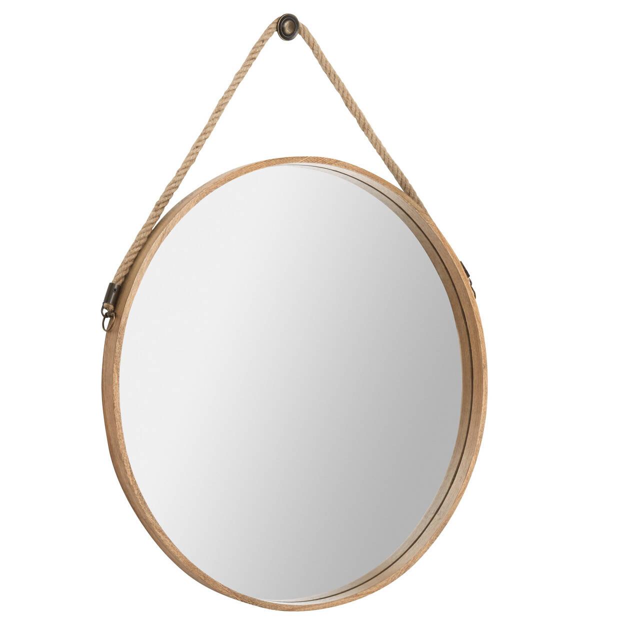 Miroir rond suspendu avec crochet