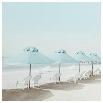 Beach Umbrellas Printed Canvas