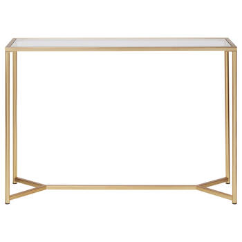 Metal and Glass Console Table