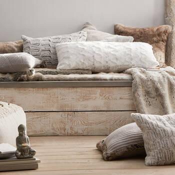 """Herbert Faux Fur Decorative Lumbar Pillow 14"""" X 22'"""