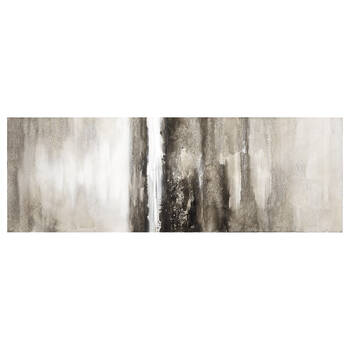 Abstract Oil-Painted Canvas