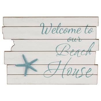 Beach House Wooden Plaque