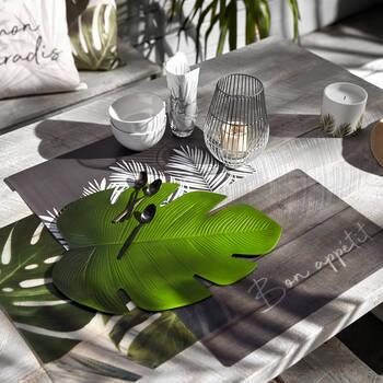 Ensemble de 4 napperons feuilles en PVC