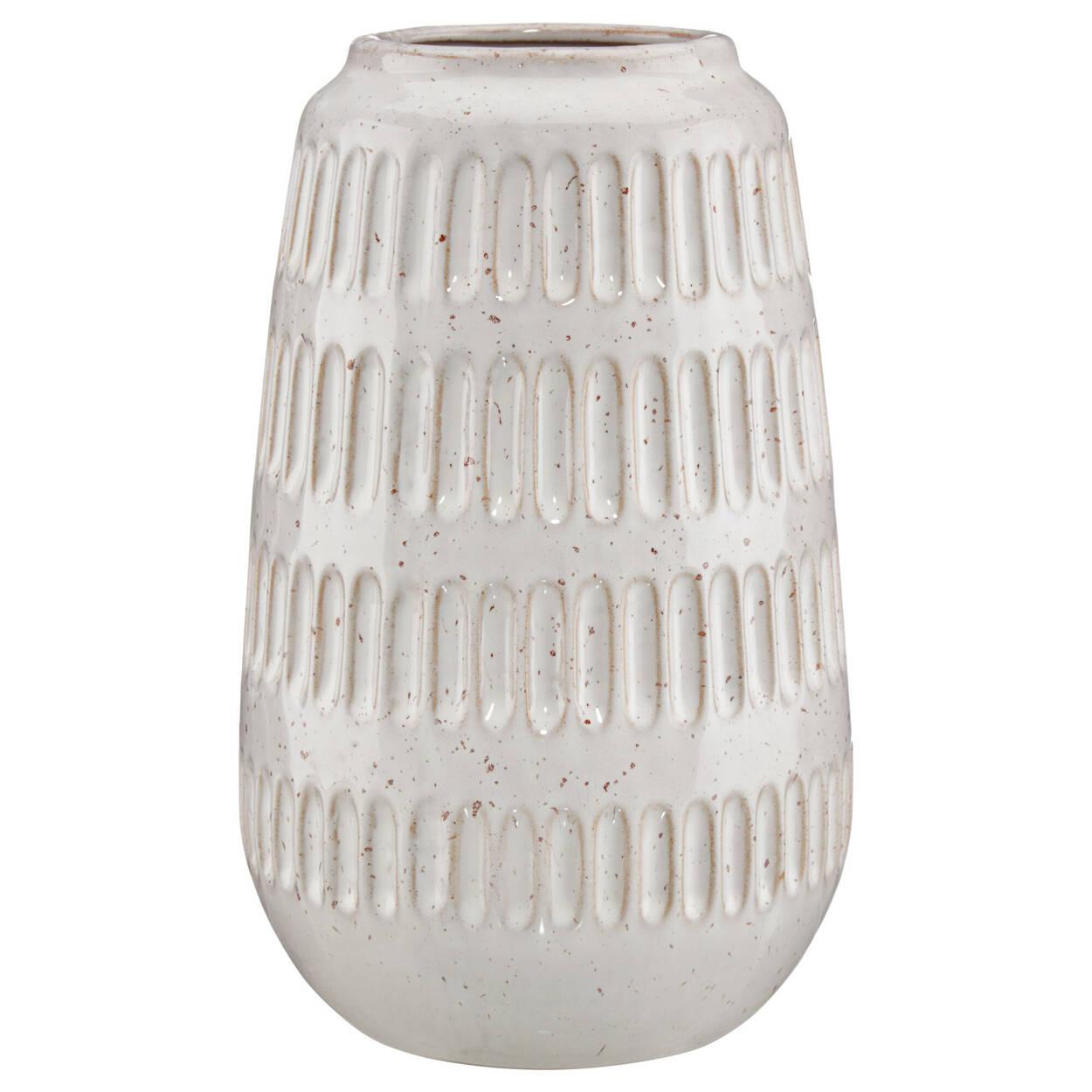 Vase en porcelaine côtelée