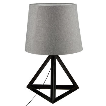 Lampe de table triangulaire en métal