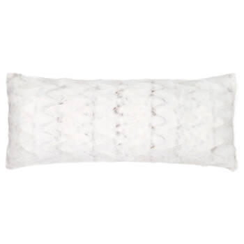"Hare Faux Fur Decorative Lumbar Pillow 15"" X 32"""