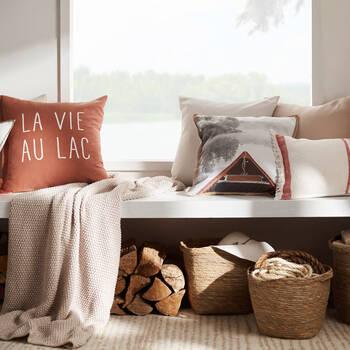 """La Vie au Lac Decorative Pillow 20"""" x 20"""""""