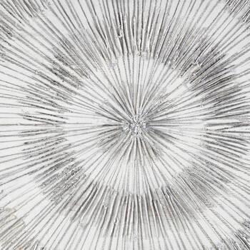 Tableau cercles abstraits peint à l'huile