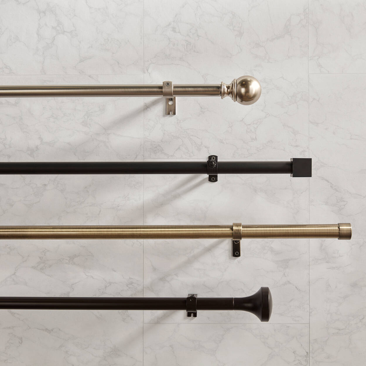 Curtain Rod Set - Diameter 28 mm