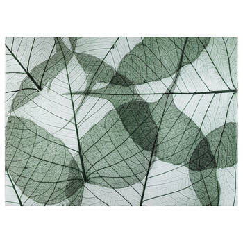 Green Leaves Printed Canvas