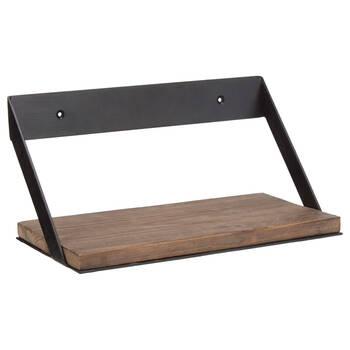 Small Wood and Metal Shelf