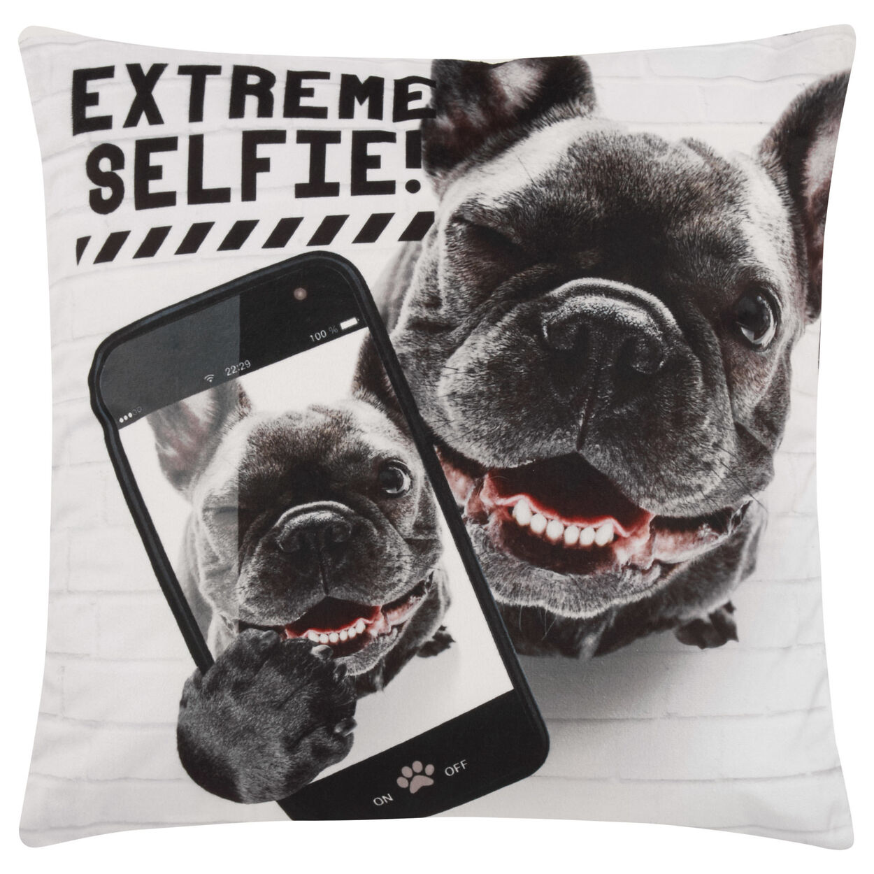 "Extreme Selfie Decorative Pillow 18"" X 18"""