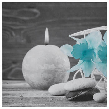 Candle & Rocks Printed Canvas