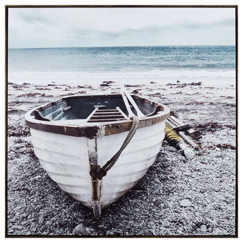Boat on Beach Framed Art