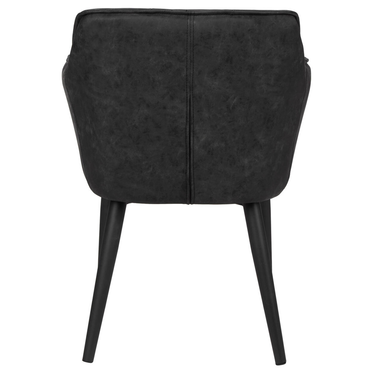 Textured Faux Leather and Metal Dining Chair   Bouclair.com