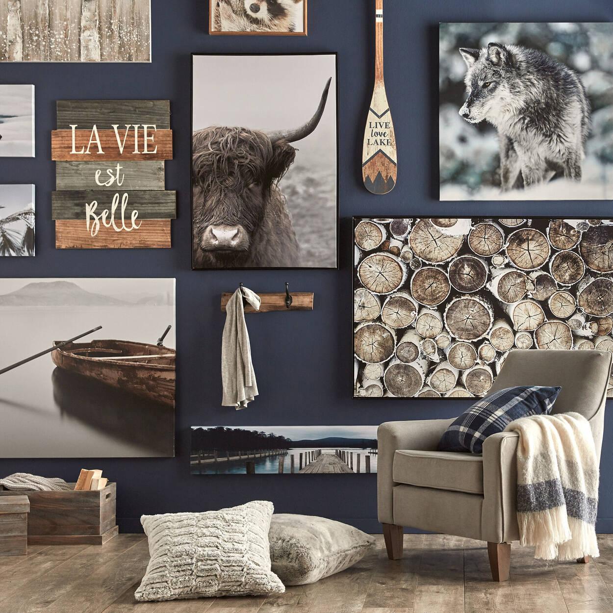 Décoration murale en bois La vie est belle