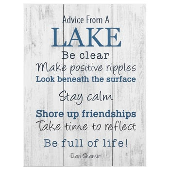 Advice From A Lake Canvas