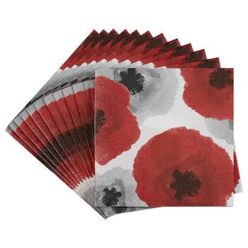 Set of 20 Floral Table Napkins