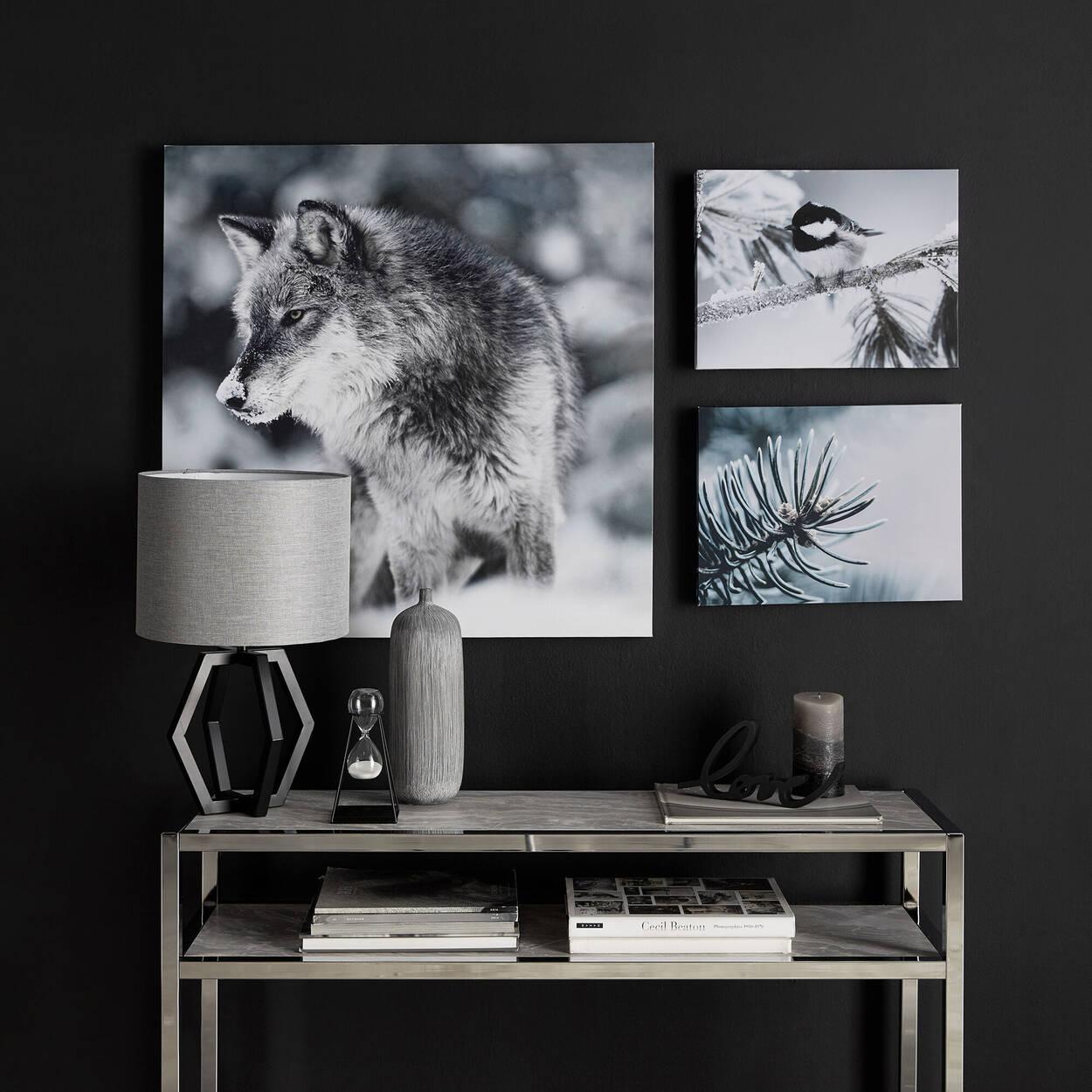 Sablier décoratif en métal et en verre