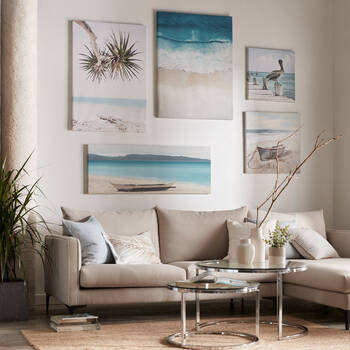 Dreamy Tropical Beach Printed Canvas