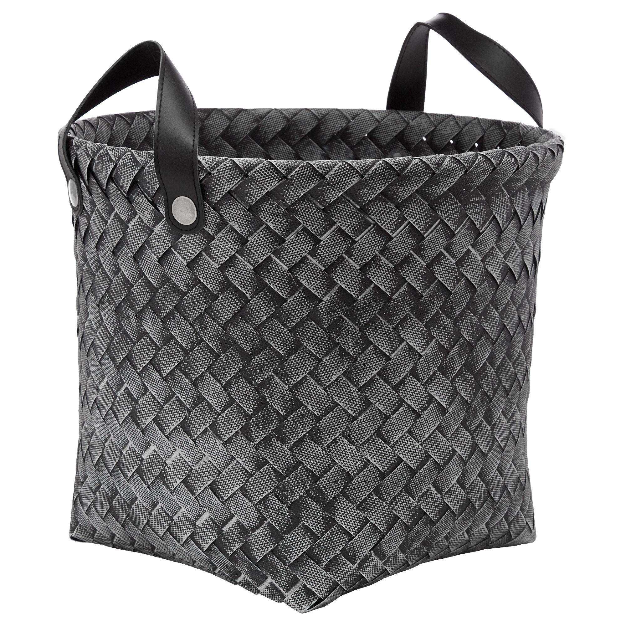 Medium Woven Plastic Storage Basket