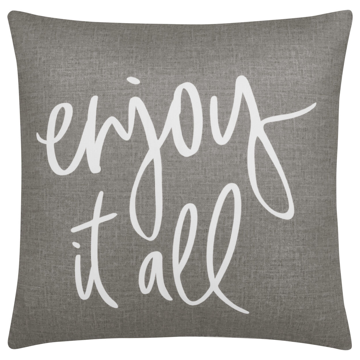 "Joya Decorative Pillow with Typography 18"" X 18"""