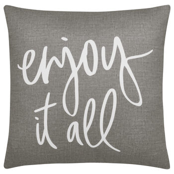 "Joya Decorative Pillow with Typography 18"" X 18"""