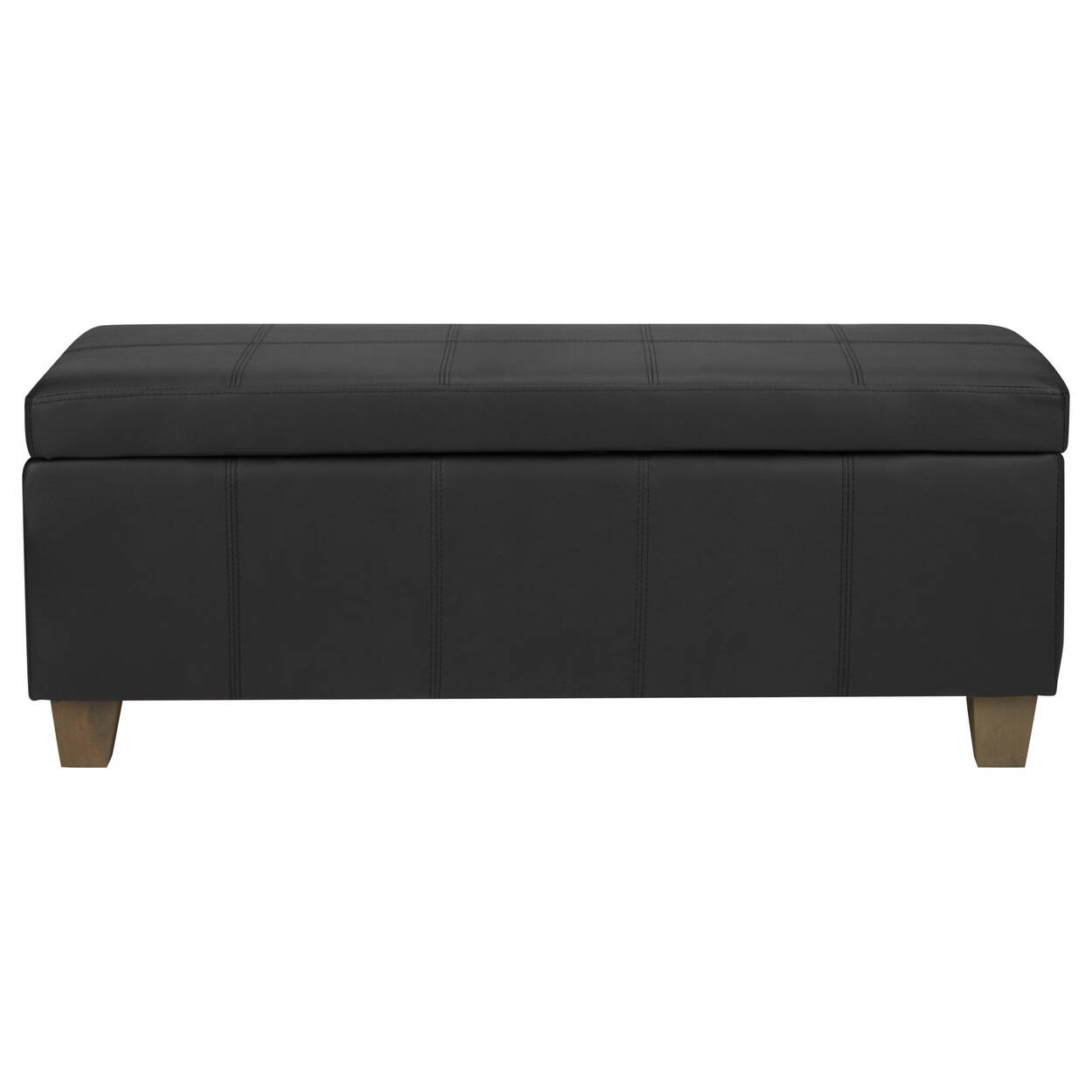 Faux Leather Storage Bench Bouclair Com