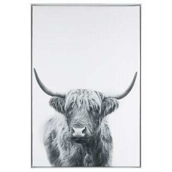 Lonely Bull Printed Framed Art