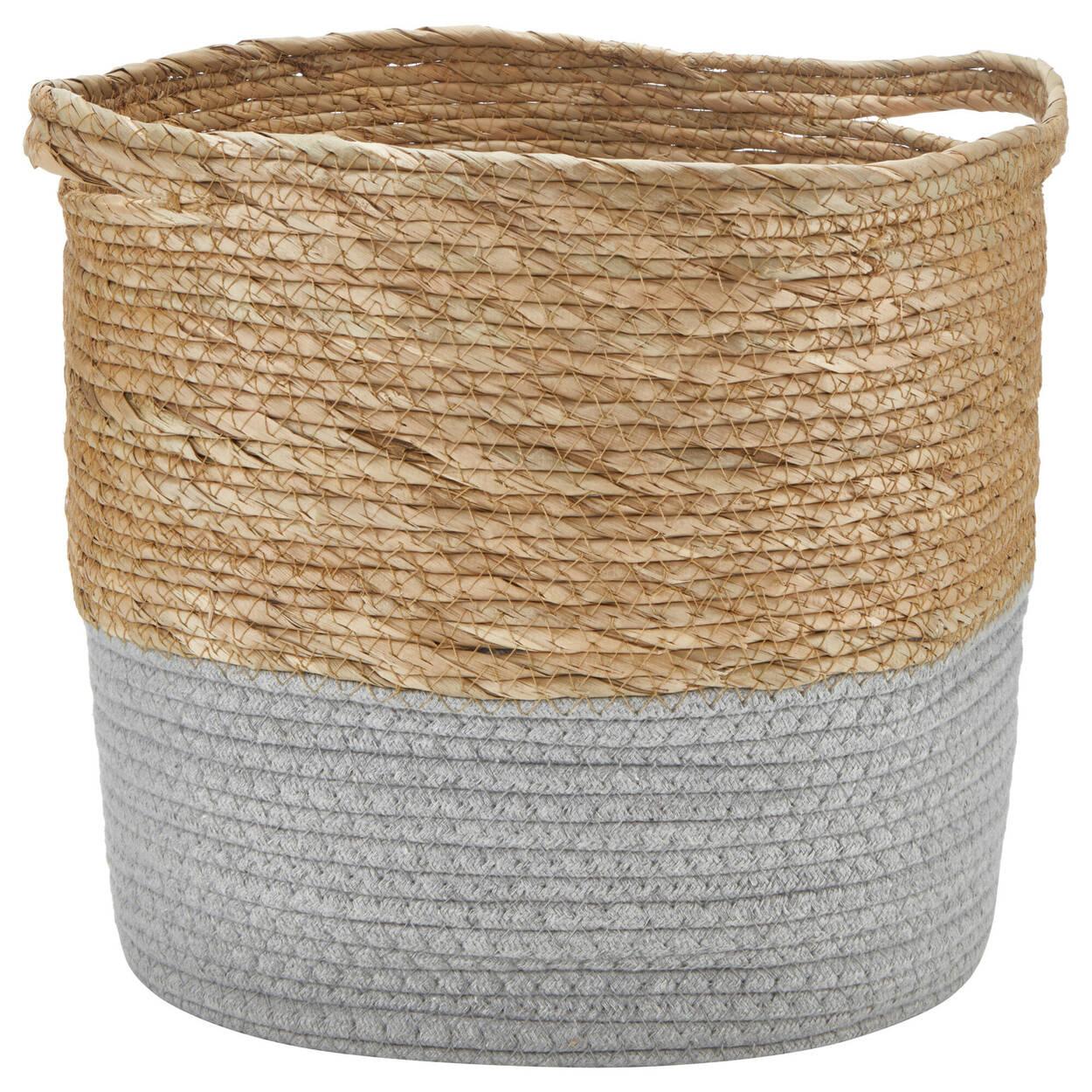 Panier de rangement en fibre naturelle et cotton
