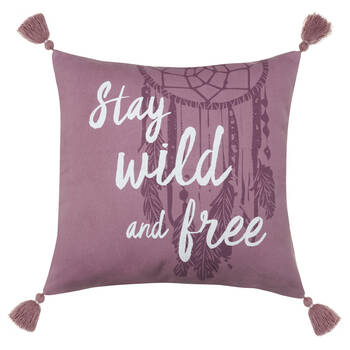 "Wild Decorative Pillow with Tassels 18"" X 18"""