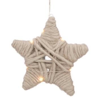 Ornement étoile en laine