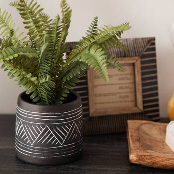 Two-Tone Ceramic Potted Fern