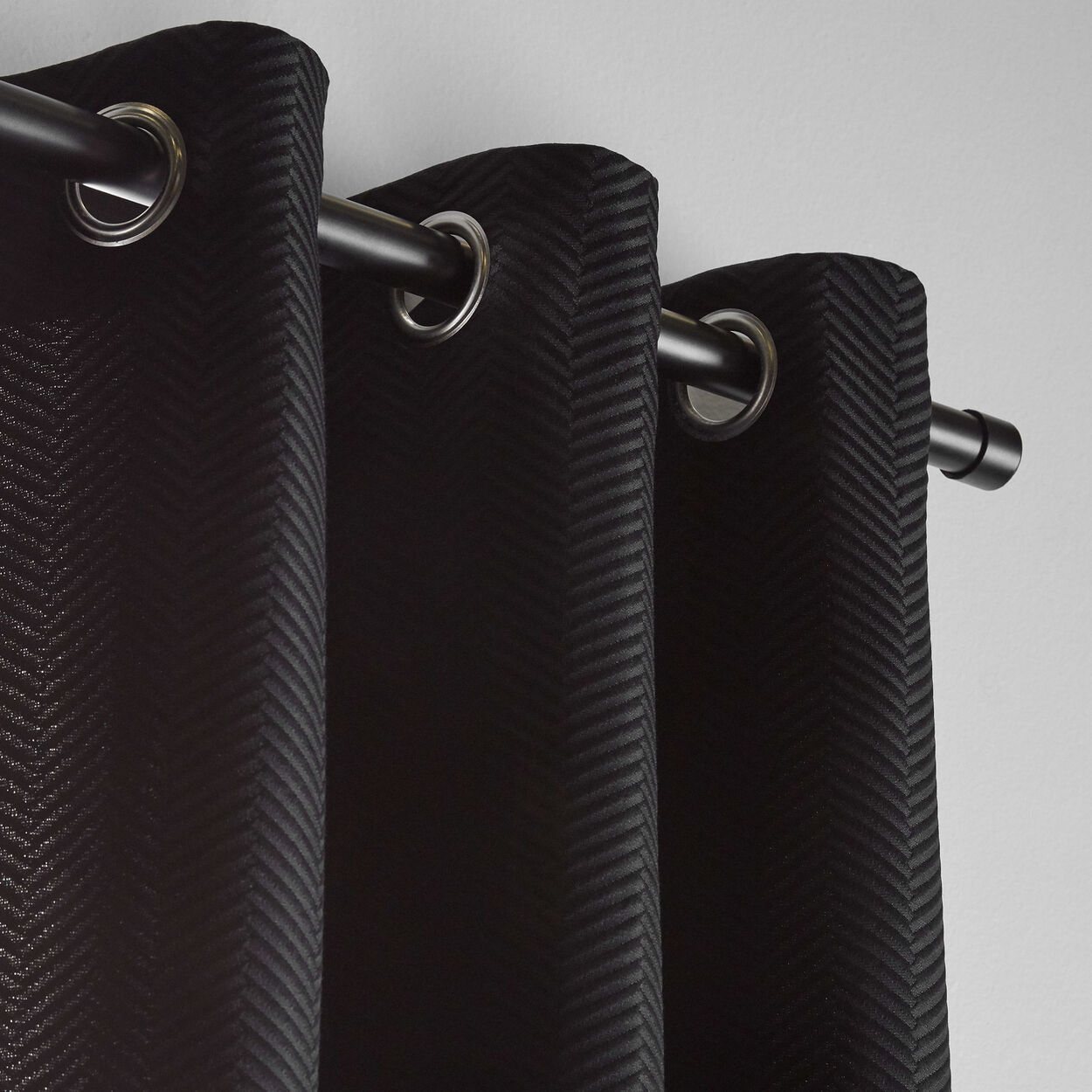 Quincy Embossed Chevron Curtain