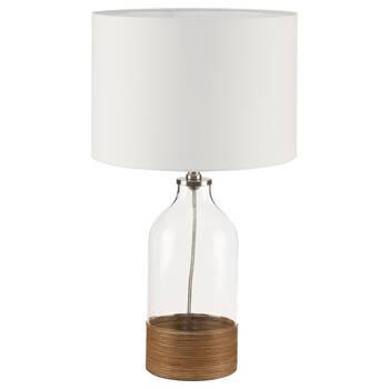 Lampe de table en rotin et en verre