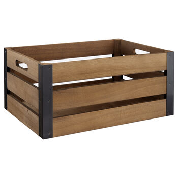 Large Wood and Metal Crate