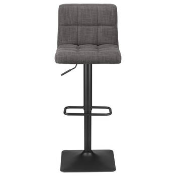 Tufted Chita Fabric and Metal Bar Stool